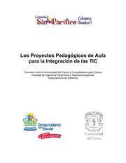 Portada del Libro Los Proyectos Pedagógicos de Aula para la Integración de las TIC